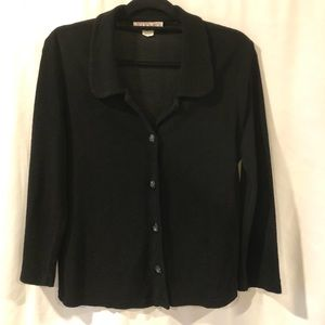 Totonko Black Button Up Jacket.  Size L